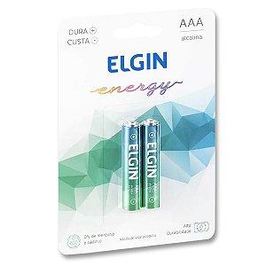 Pilha AAA Alcalina Alta Duração - Elgin Energy - Blister 2 Unidades