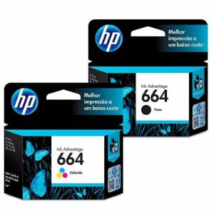 KIT CARTUCHO HP 664 PRETO + CARTUCHO HP 664 COLORIDO