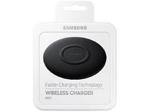 Carregador Sem Fio Samsung Slim Fast Charging, Carregamento rápido, USB Tipo C, Preto - EP-P1100BBPG