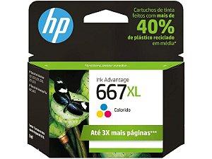 Cartucho Hp 667xl 3ym80al Colorido