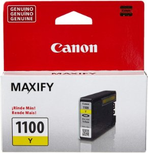 Cartucho De Tinta Original Canon Pgi 1100 4,5ml Amarelo Mb2010 Mb2110 Mb2710