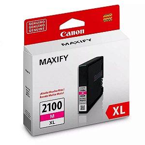 Cartucho De Tinta Canon Original Maxify Pgi 2100 xl 19,3ml Magenta MB5110 Mb5410 Mb5310 Ib4010 Ib4110