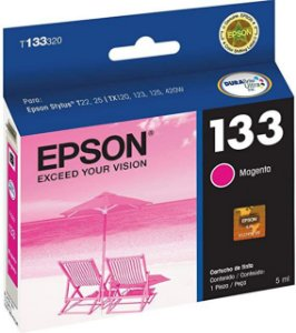 Cartucho de Tinta Epson 133 Original T133 5ml - Magenta