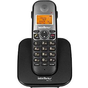 Telefone Sem Fio Digital Intelbras Ts5120 Com Viva Voz e Identificador de Chamadas | C/ Saída P1 - Preto