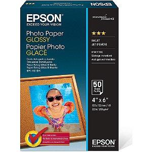Papel fotográfico Epson 10x15cm 194g brilhante C13S042547 50 Folhas