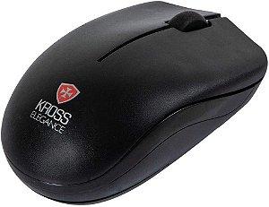 Mouse Wireless Sem Fio Kross Elegance Óptico 1000 dpi Escritório KE-M206