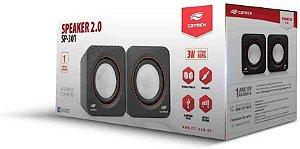 Caixa De Som C3 Tech Sp-301Bk Portátil 2.0 Preta P2/Usb