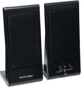 Caixa De Som Conexão Usb E P2 Multilaser Flat 3W Rms Preto SP009 - Preto
