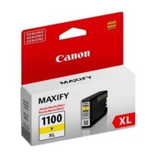 Cartucho Canon PGI 1100XL 12ml Original  - Amarelo | MB2010, MB2110, MB2710
