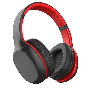 Headset Bluetooth Xtrax Groove com Microfone Embutido – Preto e Vermelho