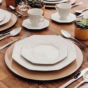 Aparelho de Jantar Chá Schmidt Porcelana Prisma 30 Peças