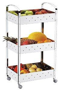 Organizador Inox - Suprema 40 x 28 x 77 cm