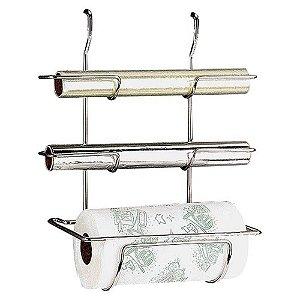 Suporte para Rolo de Papel Toalha, Alumínio e PVC 32 x 17 x 36,5 cm - Top Pratic