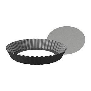 Forma com fundo removível de alumínio com revestimento interno antiaderente 24cm