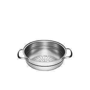 Cozi-Vapore Tramontina Allegra em Aço Inox com Alças 20 cm 2,2 litros