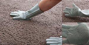 Par de Luvas em Silicone 32 cm para Limpeza e Louças