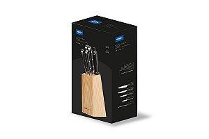 Conjunto facas 6 peças com cepo Infinity - Brinox