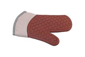 Luva de silicone e tecido Glacê 28 x 18 x 2 cm - Chocolate Brinox