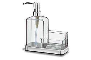 Organizador de Pia - Elegance 19,5 x 16 x 7,5 cm - Cristal Brinox combase inox