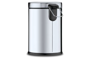 Lixeira Inox com Pedal e balde 12 litros Ø 25 x 41 cm - Lixeira Inox com Pedal e balde 12 litros Ø 25 x 41 cm - Brinox
