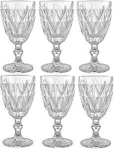 Jogo de 6 Taças p Água Clear Vitral Verre Mimo Style Tc14853 de 320 ml