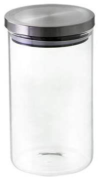 Pote Hermético Transparente De Borossilicato Com Tampa Inox 1l Mimo Style