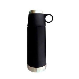 Garrafa Térmica Parede Dupla INOX BLACK 350ML Mimo STYLE