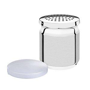 Porta Queijo Ralado Tramontina Utility em Aço Inox com Tampa de Plástico
