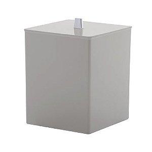 LIXEIRA QUADRADA QUADRATTA  branca de 4.5 litros  em polipropileno