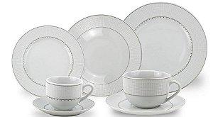 Jogo de Jantar 42 Peças Porcelana Fina Class Home