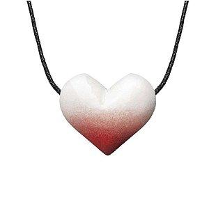 Colar Aromatizador de Cerâmica - Coração