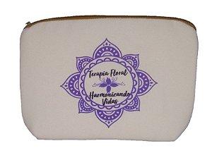 Bolsa Protege - Para Guardar Cosméticos Naturais - Terapia Floral (Mandala roxa)