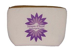 Bolsa Protege - Para Guardar Cosméticos Naturais - Terapia Floral (Flor roxa)