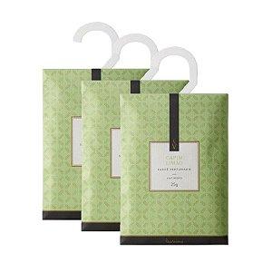 Três Sachês Perfumados Via Aroma 25g / Capim Limão