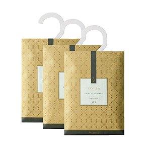 Três Sachês Perfumados Via Aroma 25g / Vanilla/Baunilha