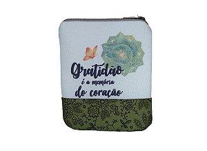 Bolsinha para Óleos Essenciais, Homeopáticos ou Florais - Gratidão