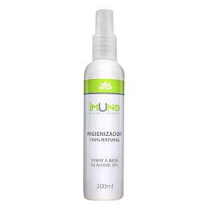 IMUNO Higienizador 200ml - Base Álcool 70 graus