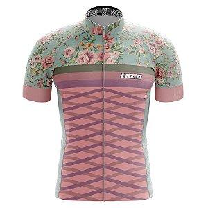 Camisa de Ciclismo Pró Race - Rosa Floral