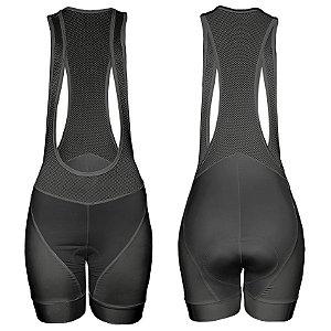 Bretelle de Ciclismo Feminino Sport - Preto