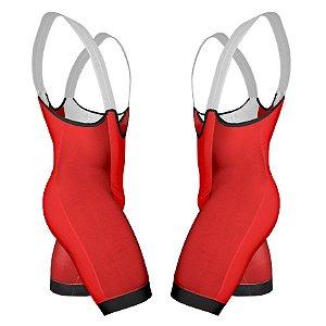 Bretelle de Ciclismo Pró - Vermelho