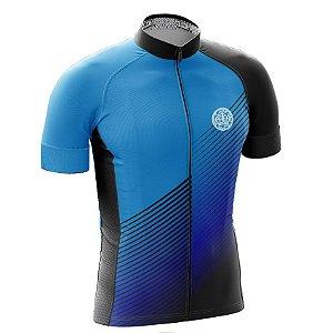 Camisa de Ciclismo PRO - Linhas - Azul e Preto