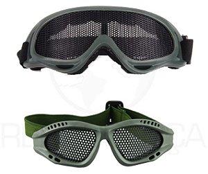 Óculos Tático De Proteção Telado Airsoft Paintball