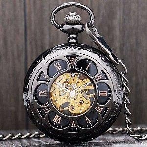 Relógio De Bolso Mecânico Steampunk