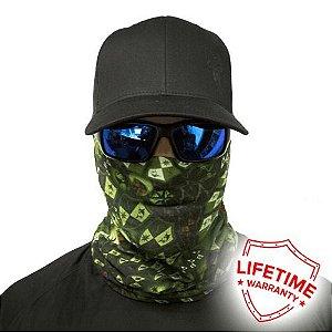 Bandana Balaclava Face Shield Stealthtech Camo Verde - Verde