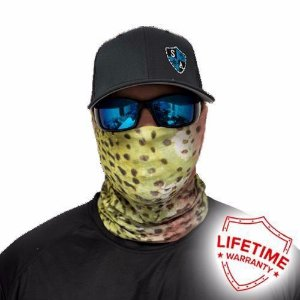 Bandana Balaclava Face Shield Rainbow Trout Skin Pattern - Estampado