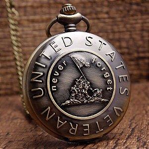 Relógio De Bolso United States Army Veteran - Never Forget