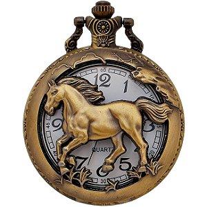 Relógio De Bolso Mustang Corsel Cavalo
