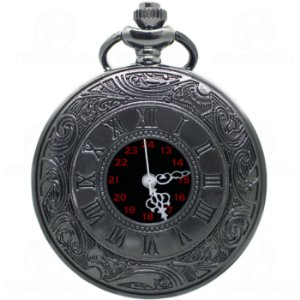 Relógio de Bolso Black Steampunk