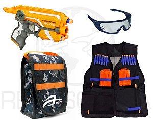 Lançador Firestrike Hasbro Nerf + Bolsa + Acessórios