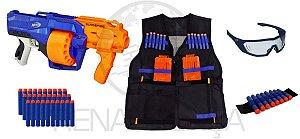 Nerf Surgefire + Vision Gear + Colete + Pulseira + 30 Dardos